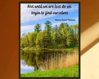 Henry David Thoreau Quote, Instant Digital Print, Walden Quote, Inspirational Wall Art, Nature Quote