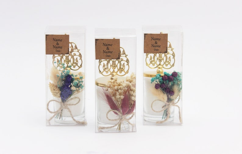 Baby Shower Candle Gift Wrapped Wedding Gifts . Bridal Brachelor Party Favor Bridesmaid Candle Custom Wedding Candles Favors