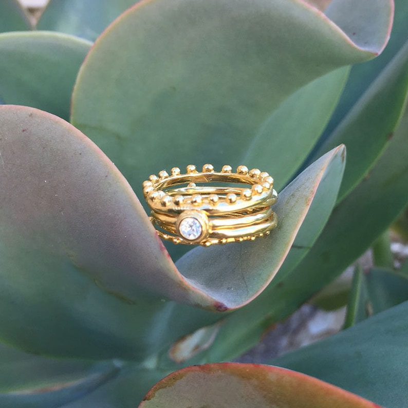 Gold Ring Grandmother Ring Mother Ring Gold Sunburst Ring Gold Stacking Ring Stack Ring Stackable Ring
