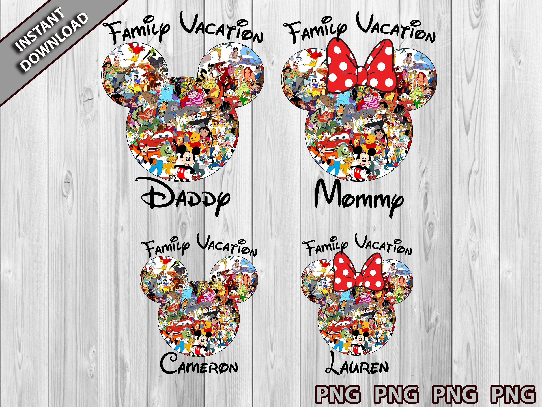 Disney Family Vacation PNG, 2021 Disney Vacation Png, Disney Vacation Minnie and Mickey Mouse Head Pngg, DisneyWorld Png, Mickey Vacation