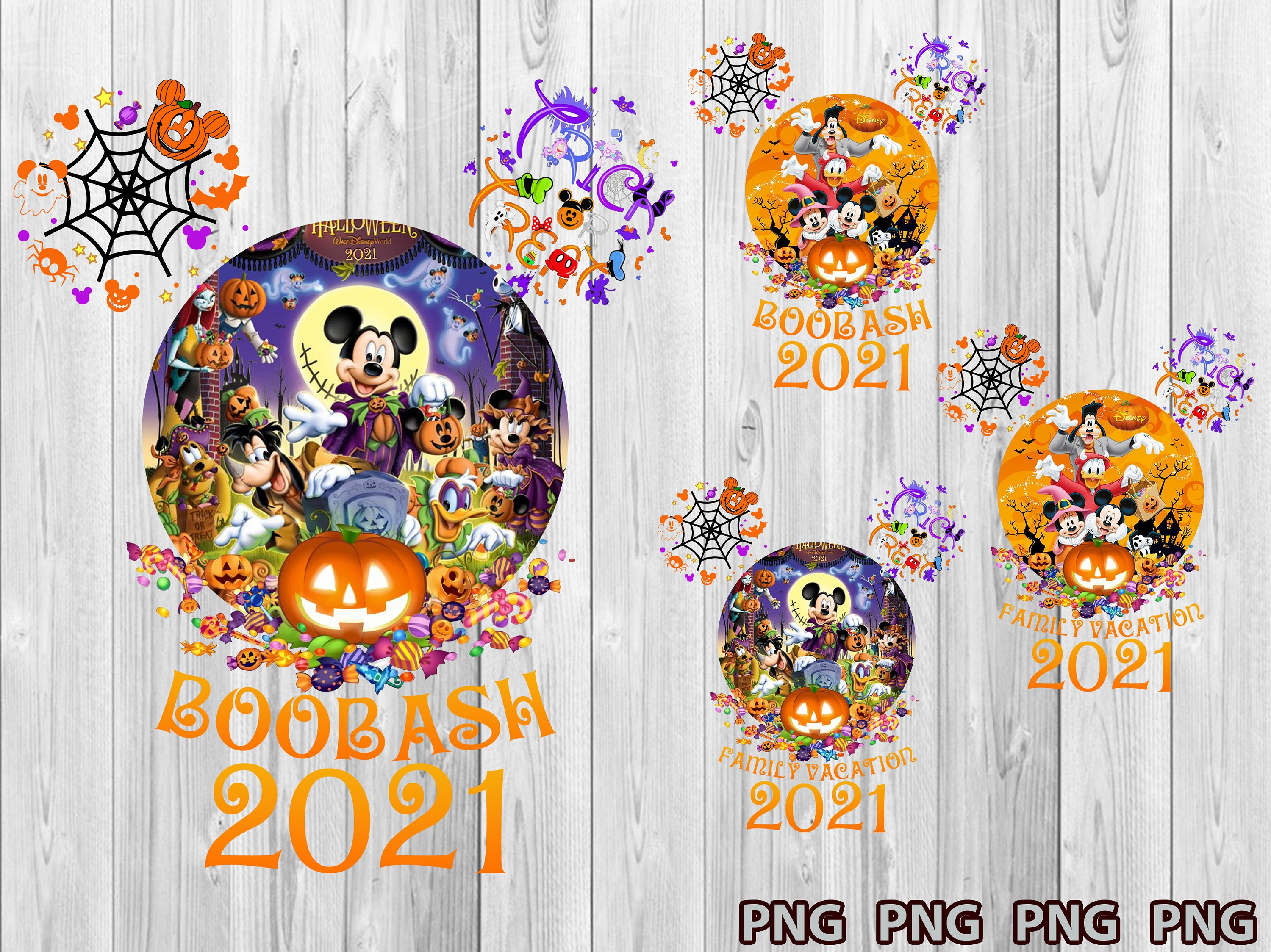 Mickey Trick or Treat Png, Mickey Head With Castle Png, Halloween Family Png, Mickey Halloween Png, Mickeys Not So Scary Halloween Png
