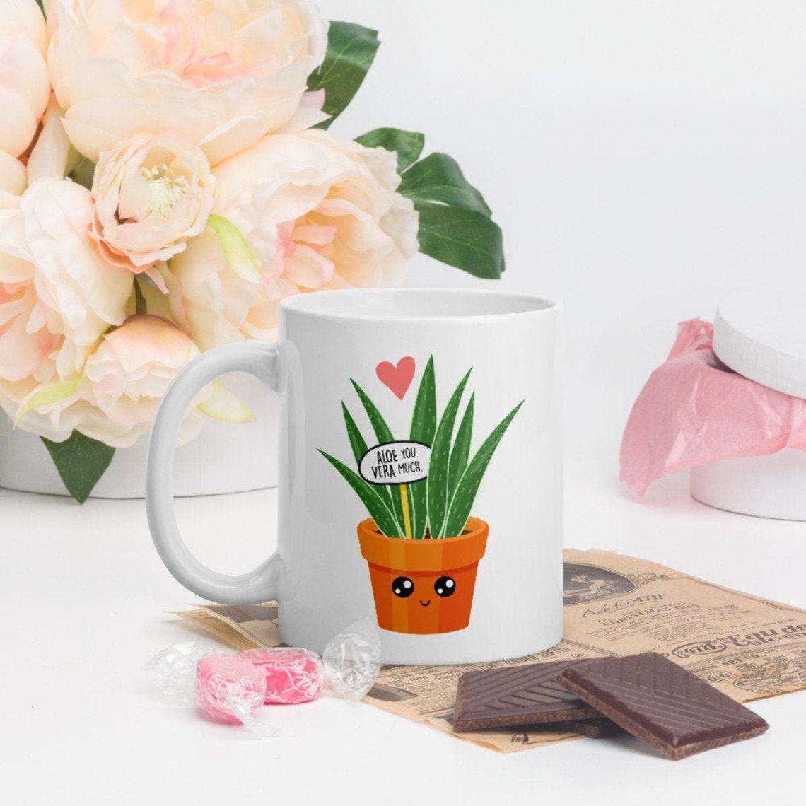 Aloe You Vera Much I love You Very Much Mug 11 Fluid ounces