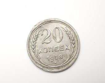 20 Kopek Free Shipping USSR Coin Ring