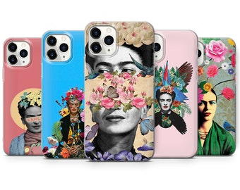 Frida Kahlo Phone Case Flowers Muse Cover fit for iPhone 13, 12, 8+, XS, XR, 11, Samsung S10 Lite, S21, A50, A51, Huawei P20, P30 Pro