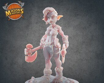 Goblin Barbarian Miniature for Tabletop RPGs|Dungeons and Dragons