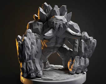 Earth Elemental Miniature for Tabletop RPGs|Dungeons and Dragons