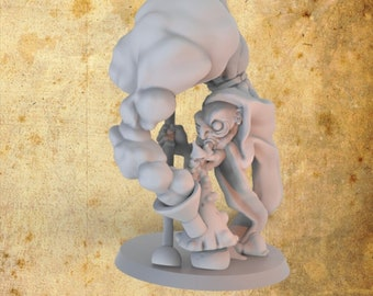 Gob Marley Goblin Smoker Miniature for Dungeons and Dragons|Tabletop RPGs|Tabletop Wargames