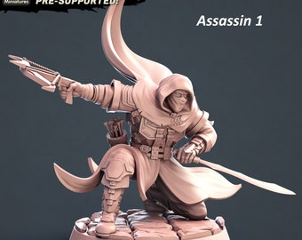 Assassin Miniature and Weapon Rack Terrain for Dungeons and Dragons|Tabletop RPGs
