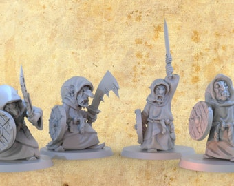 Goblin Swordsmen Miniature for Dungeons and Dragons|Tabletop RPGs|Tabletop Wargames