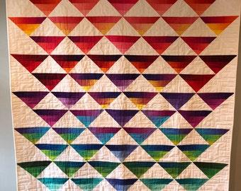 Handmade Modern Ombré Quilt