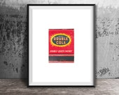 Double Cola Print - Vintage Kitchen Decor Print - Vintage Matchbook Print - Unframed Wall Art Print - Coke Soda Pop Print