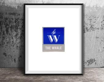 The Whale, Chicago Art Print - Vintage Matchbook Print - Unframed Wall Art Print - Logan Square, Chicago Restaurant