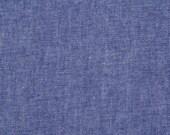 Indigo Chambray, Cotton Fabric, Riley Blake,