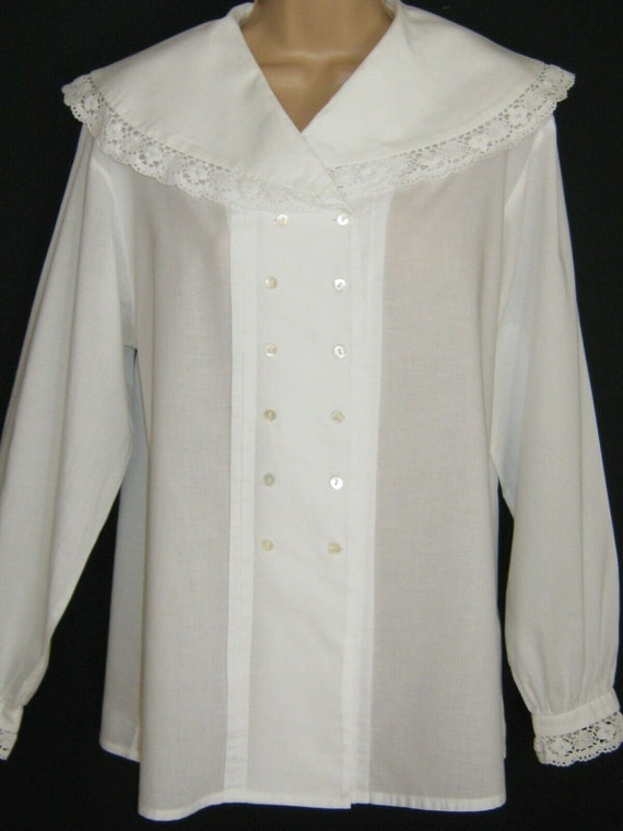 LAURA ASHLEY Vintage Victorian Style Cape Collar C