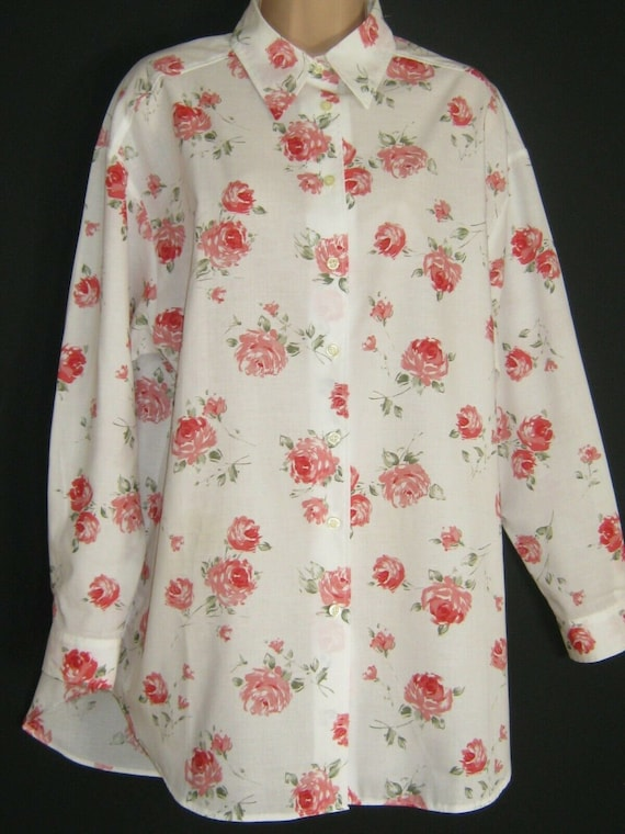 LAURA ASHLEY Vintage Summer Rose Cotton Cambric Sh