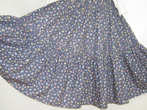 LAURA ASHLEY Vintage Chambray Viola Floral Tiered