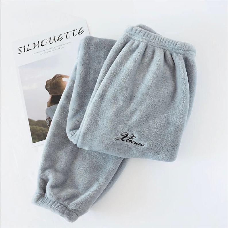 Lettering Fleece Sweatpants