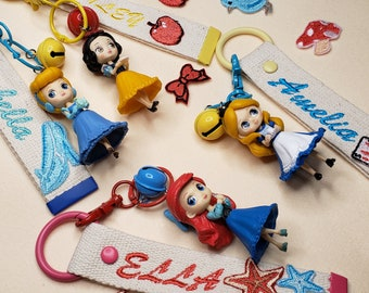 Back To School   Princess Customized name tags for Kids    Embroidery Name Tag   Personalized Handmade Name Tag   Webbing Name Tag  Disney