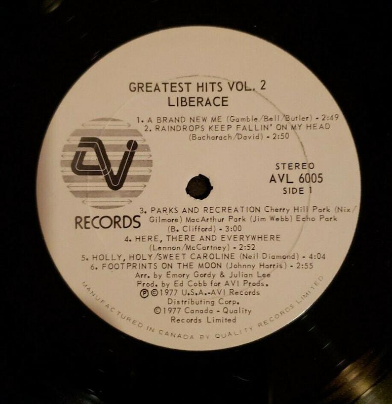Vintage Vinyl LP Liberace Greatest Hits Volume 2