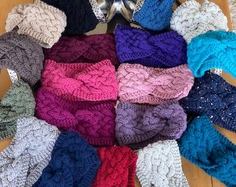 Chunky handmade knitted headband