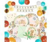 Woodland Creatures Party Supplies Tableware Serves 16 Woodland Party Decorations Large Plates Small Plates Cups Napkins