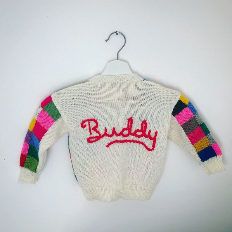 yellow jumper with personalised name 12-18 months