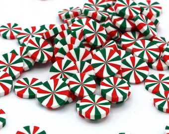 10g Red, White And Green Christmas Peppermint Sprinkles, Christmas, Christmas Crafts, Polymer Clay, Resin Craft, Art Supplies, Slime, DIY