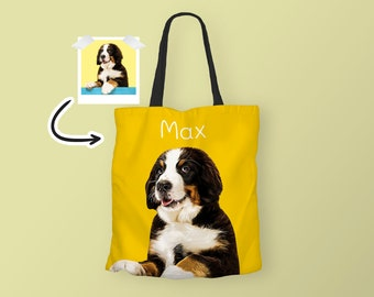 Custom Pet Portrait  Gifts for pet owners  Pet memorial  Weather resistant tote bag  Gifts under 65.