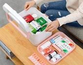 Pill box,Travel Medicine Boxes ,Storage Organizer Box,Large Storage,Goods Receiving,Multi-function Pill Storage,Gift Idea