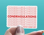 B048 - Condragulations - Glossy Sticker - For Journals, Planners, Notebooks