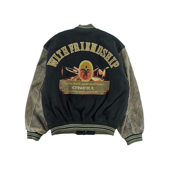 Vintage Oneill Varsity Jacket Wool Size M Black Ja