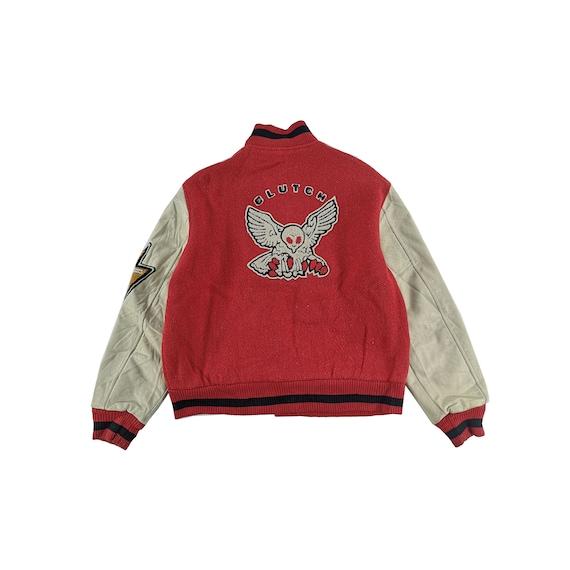 Clutch Varsity Jacket Wool Size Large Leather Jack