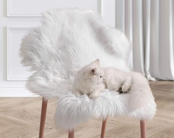 Faux Fur Chair Cover Etsy