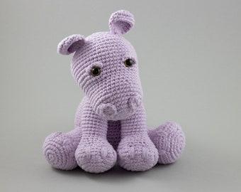 CROCHET Hippo PATTERN, Amigurumi Hippo Toy, Easy Crochet Pattern