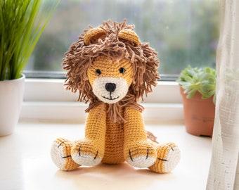 Lion CROCHET PATTERN, Lion Amigurumi Pattern, Easy Stuffed Animal Pattern, Crochet Lion Baby Gift, Plush Pattern