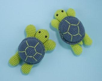 Easy Crochet Turtle Pattern, Sea Turtle Amigurumi Pattern, Turtle Plush Pattern, English PDF