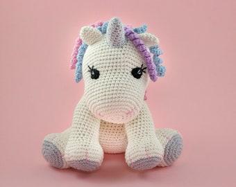 Unicorn Amigurumi PATTERN, Crochet Unicorn Pattern, English PDF, Unicorn Plush Toy