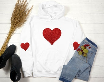 Ultrasuede heart elbow patched crew neck