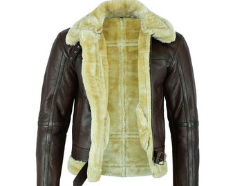 FLUES Retro Slouch Bomber Brown 100/% Leather Jacket Coat Size XL  Chest Approx 56 in. Men/'s Vintage M