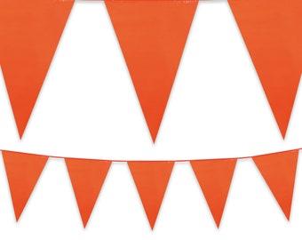Orange Jaune et Rouge Coton Bunting par mètre