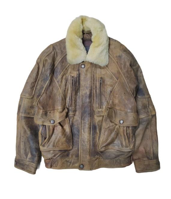 Vintage AZ Sherpa Leather jacket