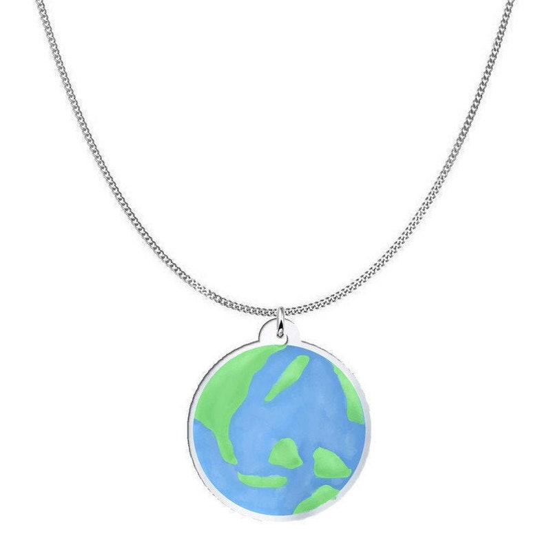 Mother Earth Necklace Earth Earth Globe Necklace 925 Sterling Silver Planet Earth Necklace Lovely Earth Necklace Love Earth Necklace