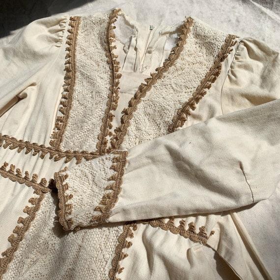 1970s Vintage Prairie Boho Mixi Dress-Gunne Sax S… - image 6