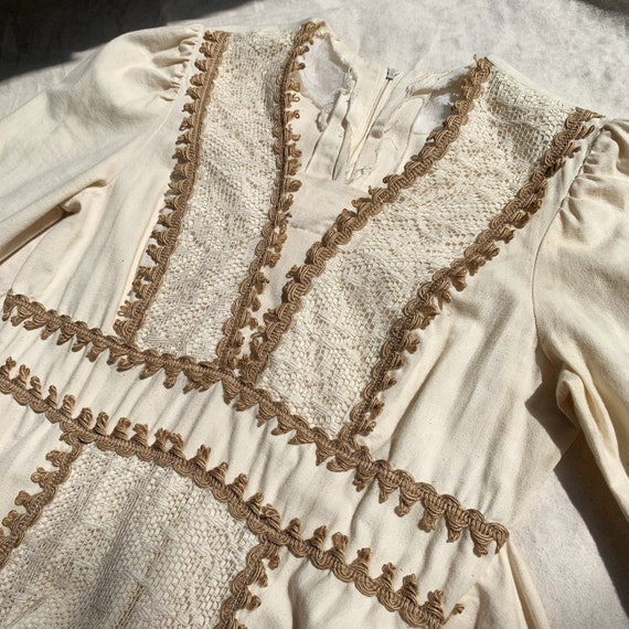 1970s Vintage Prairie Boho Mixi Dress-Gunne Sax S… - image 5
