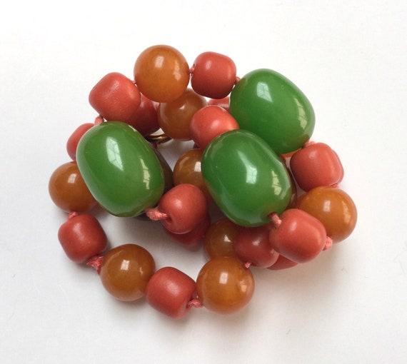 Colourful Bakelite Beaded Necklace