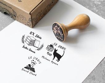 EXLIBRIS STAMP, EX Libris, Ex Libris gift, Exlibris stamp for books, Exlibris rubber stamp, book stamps, sello de libro personalizado