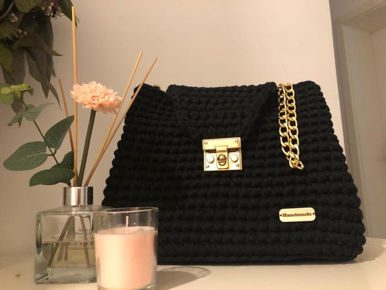 Handmade bag crochet purse handmade Valentine's Day image 1