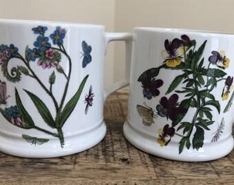 Pair of Vintage 1980's Portmeirion Tankard Style Mugs