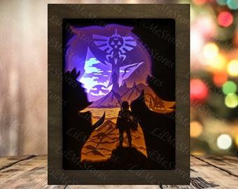 Warrior 2 Paper Cut Light Box Template Files, Shadow Box SVG, Shadow Box, 3D Papercut LightBox Svg File DIY, Cricut Svg, Silhouette Svg