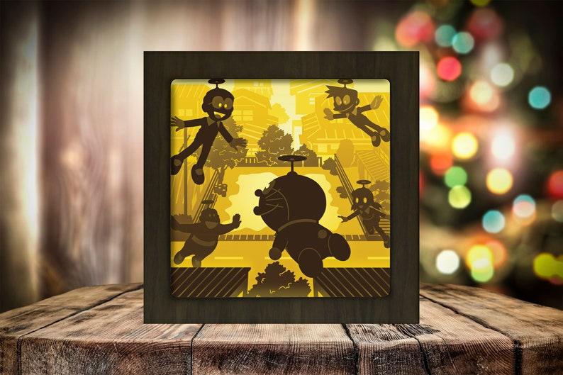 Paper Cut Light Box 3D Papercut Lightbox Shadow Box 38